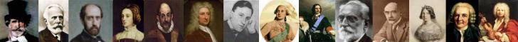 Verdi, Pablo Iglesias, Nicolás Salmerón, Isabel de Portugal, El Greco, Edmund Halley, Carl von Ossietzky, Luis XVI, Pedro I el Grande, Miguel de Unamuno, Rudyard Kipling, Isabel II de España, Carl von Linneo, Vivaldi.
